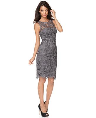 Adrianna papell sleeveless lace sheath