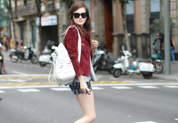 style scrapbook jacket bag shorts t-shirt shoes
