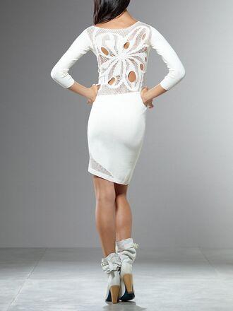 dress cut-out dress white dress floral dress patrizia pepe