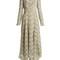 Shen high-neck floral guipure-lace dress
