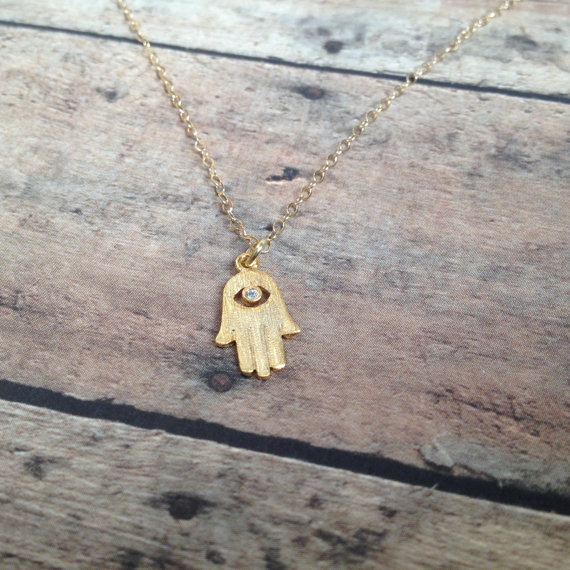 Hamsa Hand Necklace » 14k Gold Filled Chain