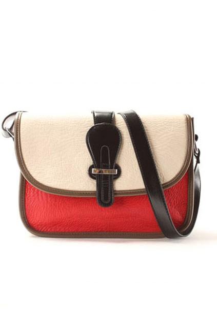 Chic Contrast Color Flap Shoulder Bag - OASAP.com