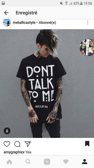 t-shirt menswear women killstar goth beautiful black grunge rock
