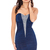 Diamante Trim Ruched Bandeau Jersey Dress