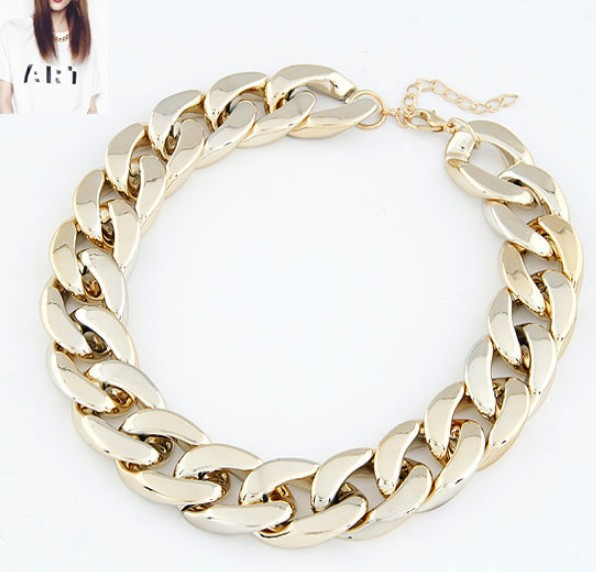 High Quality wholesale cheap jewelry Fashion gold chain choker necklace free shipping for $15 mixed order-in Chain Necklaces from Jewelry on Aliexpress.com
