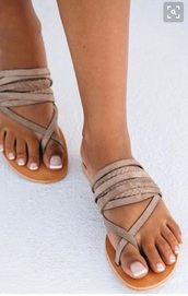 shoes,bohemian leather sandals,strappy,sandals,tan,summer,cute