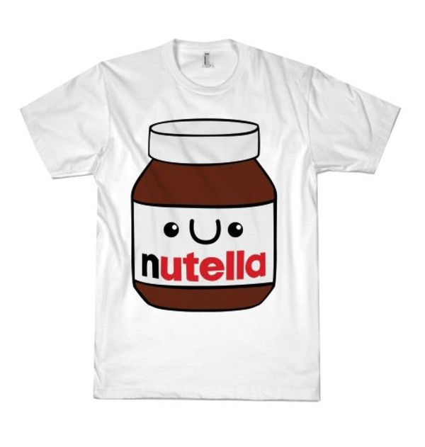 t-shirt nutella