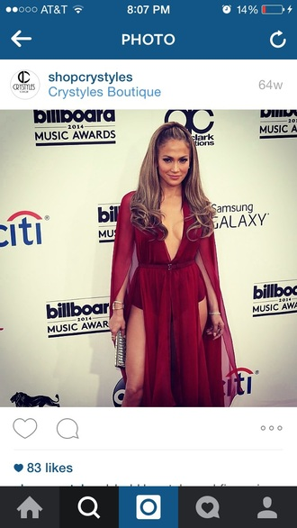 dress jennifer lopez red carpet dress burgundy dress