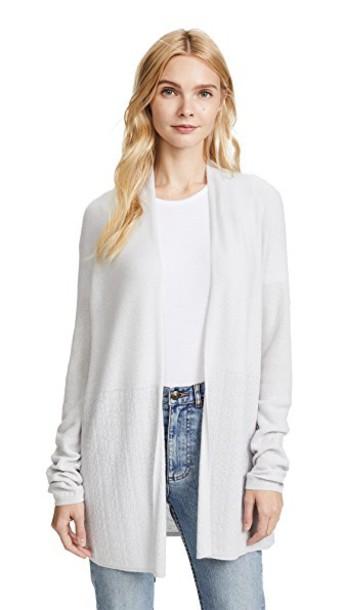 TSE Cashmere cardigan cardigan open silver sweater