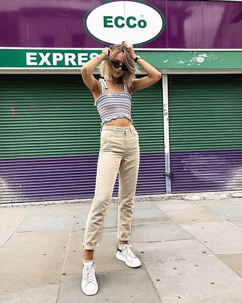 pants top crop tops sunglasses shoes