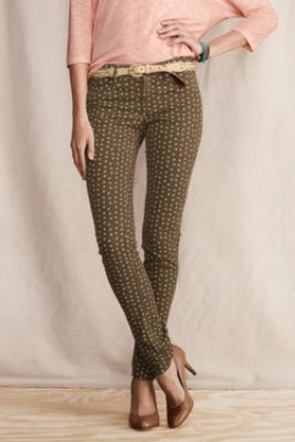 Women's Super Skinny Patterned Pants from Lands' End