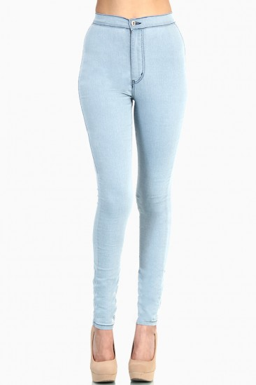 Super High Waisted Skinny Jeans - Jon Jean
