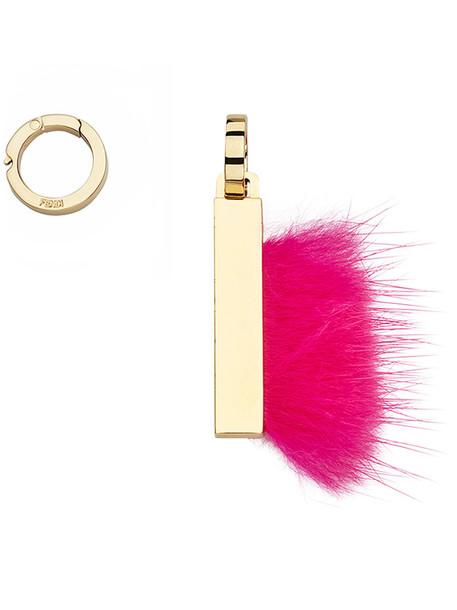Fendi fur women pendant purple pink jewels