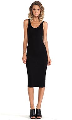 Enza Costa Rib Tank Dress in Black from REVOLVEclothing.com