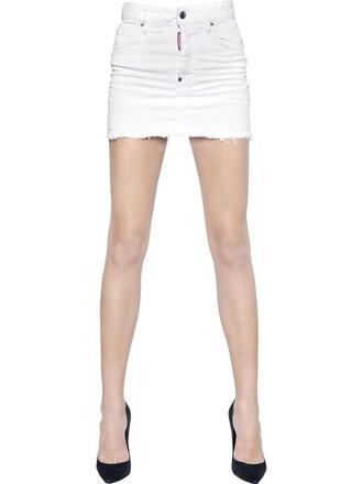 skirt denim skirt denim cotton white