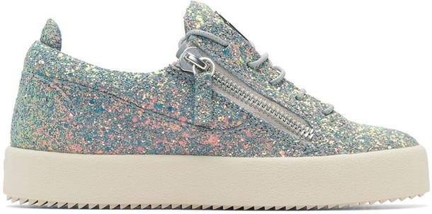 Giuseppe Zanotti glitter london sneakers grey shoes