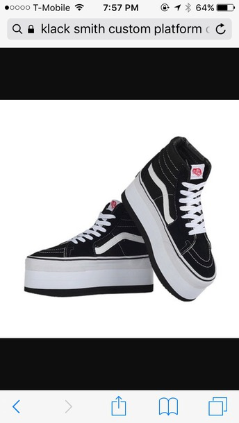 9c1518569e0 shoes vans platform shoes black black shoes black and white shoes white  black and white customized