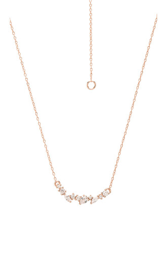 necklace gold metallic copper jewels