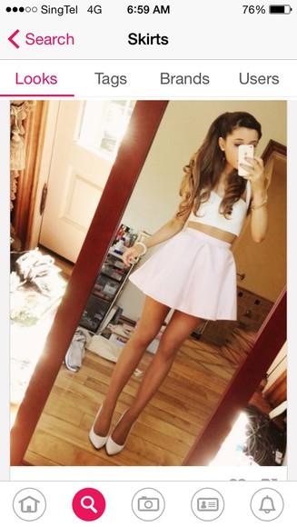 mini ariana grande mini skirt