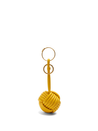 ring leather yellow jewels