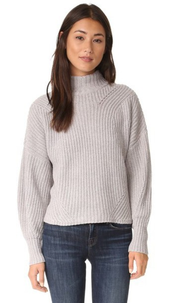 Rebecca Minkoff Algo Wool Sweater - Light Grey