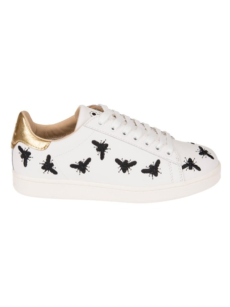 MOA Usa embroidered sneakers white shoes