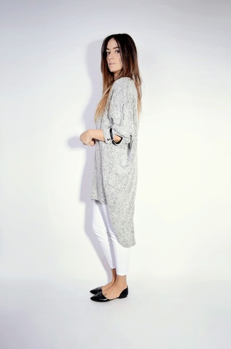 quality rivets blogger oversized shirt dress flats white pants sweater jeans shoes