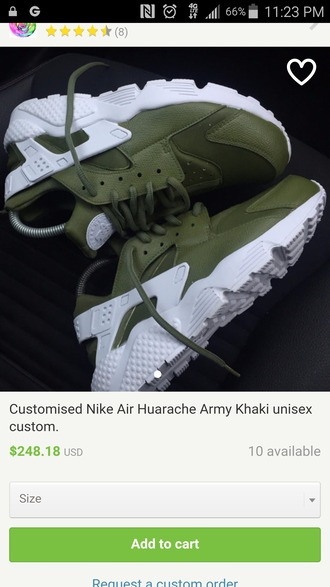 shoes olive green army green huarache nike sneakers nike