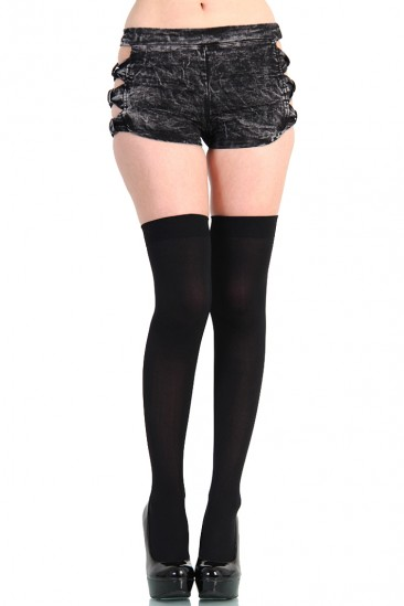 LoveMelrose.com From Harry & Molly | THIGH HIGH STOCKINGS - Black