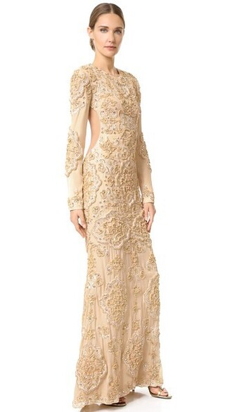 gown gold dress