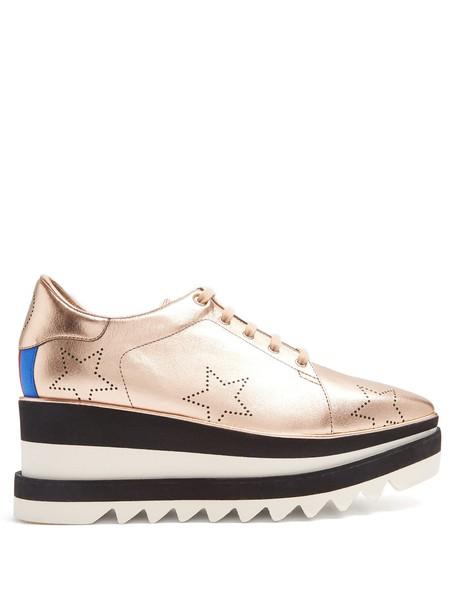 Stella McCartney shoes platform shoes leather rose gold rose gold