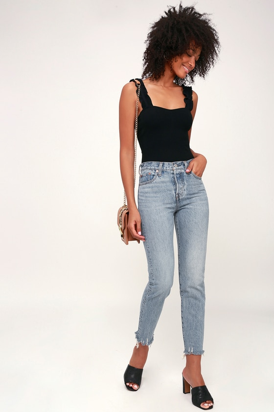 Wedgie Fit Light Wash High Rise Jeans