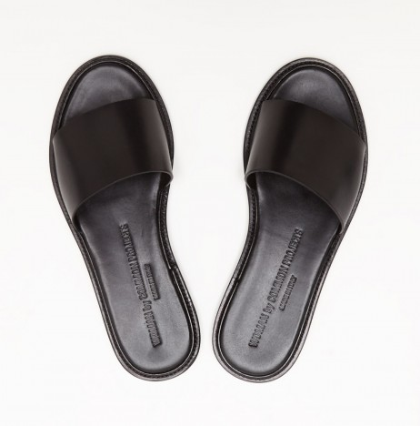 Common Projects Slide Sandal in Black | The Dreslyn