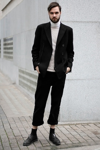 geraint donovan-bowen his name is fashion blogger jacket sweater jeans socks shoes