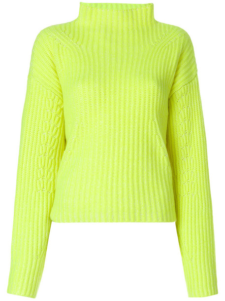 jumper women yellow orange sweater