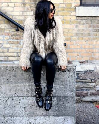 shoes givenchy ankle boots boots buckle boots leather boots tumblr italist