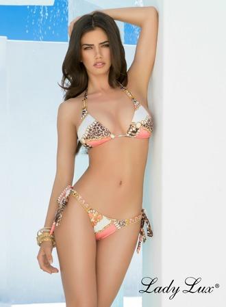 swimwear animal print coral bottom bikini animal print bikini triangle bikini triangle top coral bikini coral top leopard print luxury swimwear designer swimwear lady lux