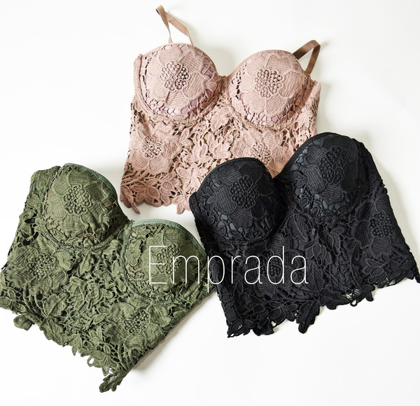 Mariana lace bustier top