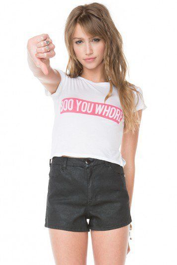 Brandy Melville Boo You w$Ore Crop Top and Striped Shorts   eBay
