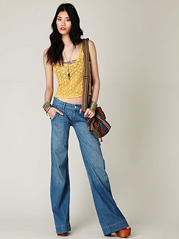 Genetic  Grace Highrise Wideleg Jean at Free People Clothing Boutique