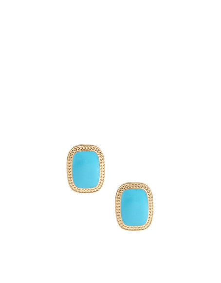 asos jewels earrings gold turquoise