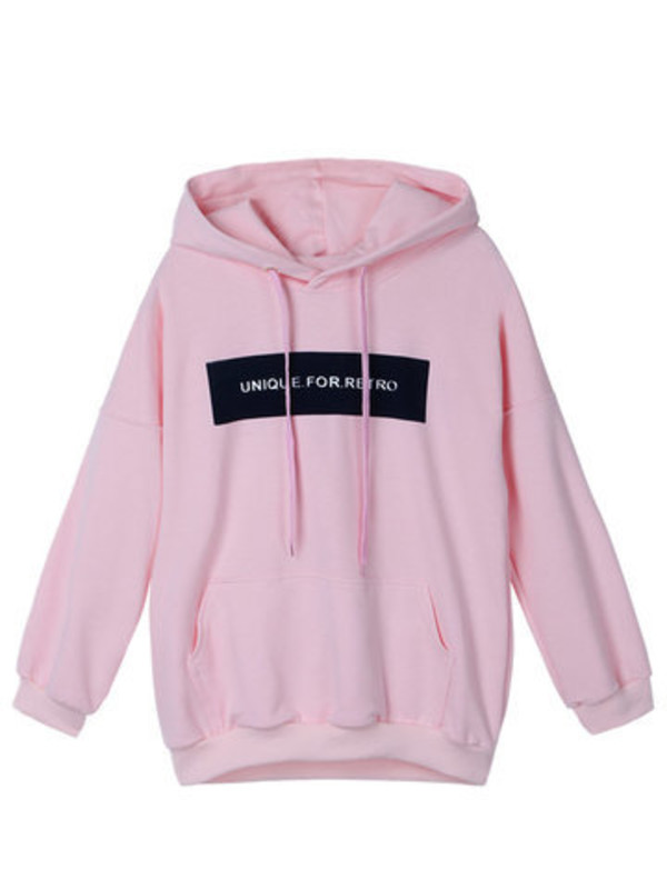 unique for retro light pink color Unisex hoodie
