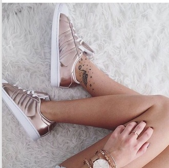 shoes rose gold adidas sneakers