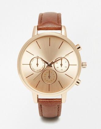 jewels watch leather watch