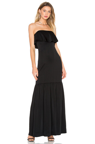gown strapless black