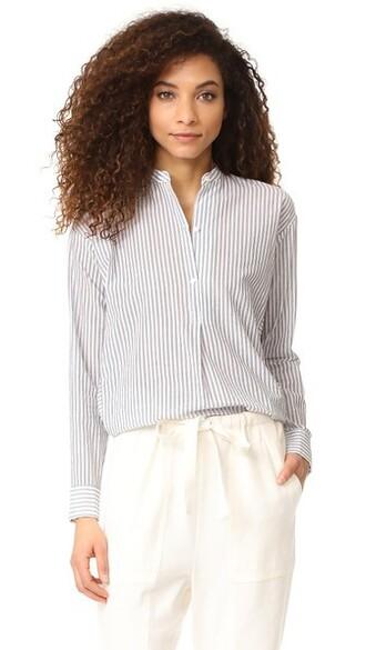 shirt white black top