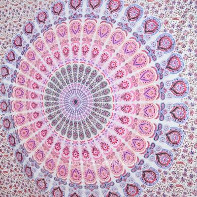 Colorful Bohemian Mandala Throw Tapestry Wall Hanging