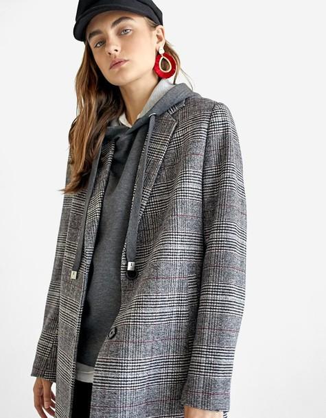 Stradivarius coat basic grey