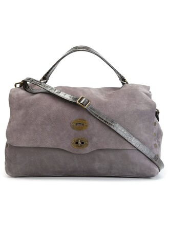 satchel women leather grey bag