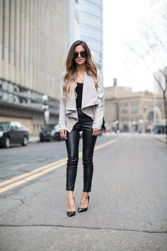 maria vizuete mia mia mine blogger pants jacket shoes bag sunglasses